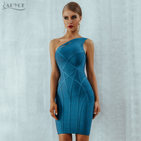 Adyce Summer Women Bodycon Bandage Dress Vestidos 2019 New Arrive One Shoulder Hollow Out Runway Celebrity Runway Party Dresses