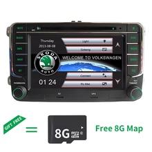 Бесплатная доставка 7 «2 DIN автомобильный DVD GPS плеер для VW сиденье Skoda Fabia ROOMSTER Superb Octavia Yeti 2006 2007 2008 2009 2010 2011 2012
