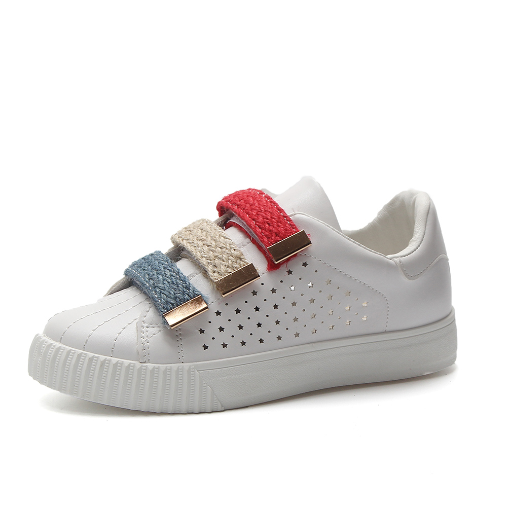 284f82ac768 Sneakers Casual Respirant Cuir 40 Appartements Chaussures Mode Femmes D été forme  En Creux white Pink Printemps Femme Plate De Taille 2018 ...