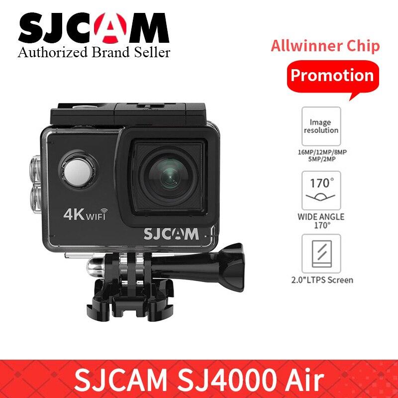 Original SJCAM SJ4000 AIR SJ4000 WiFi 2 ''écran vidéo caméra yi 4 K Full HD 30 M étanche sport Action caméra voiture Mini DVR VS h9r