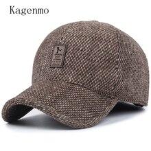 Фотография Fashion male winter hat outdoor winter sport keep warm baseball cap ear protection man visor thick cloth warmth