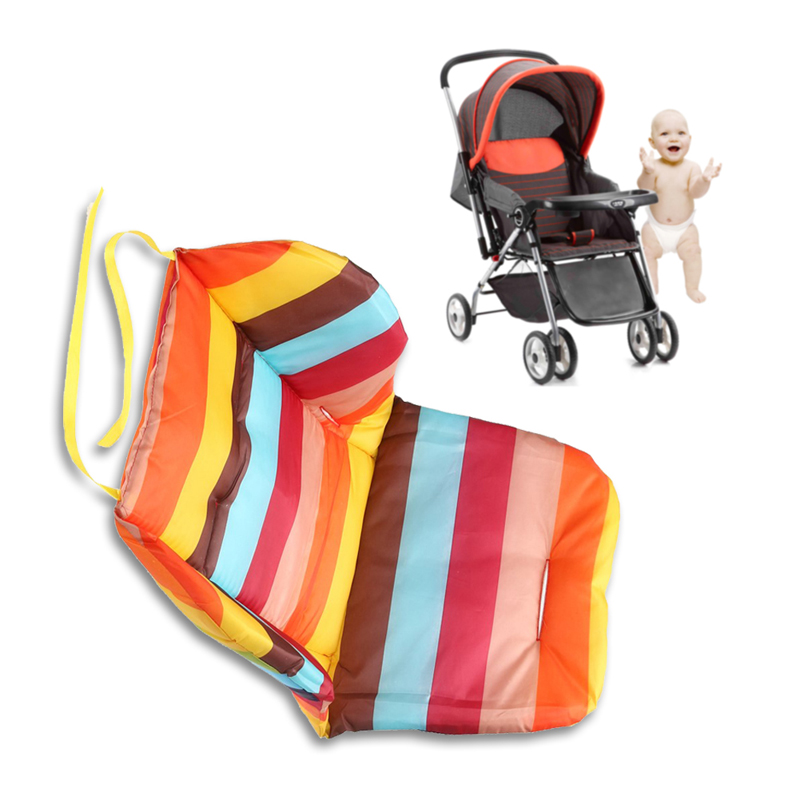 baby infant stroller seat pushchair cushion cotton mat rainbow color soft thick pram cushion. Black Bedroom Furniture Sets. Home Design Ideas