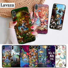 Lavaza fairy tale Alice in Wonderland Silicone Case for iPhone 5 5S 6 6S Plus 7 8 11 Pro X XS Max XR