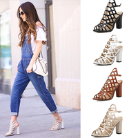 Summer Shoes 2017 Sandals Hot Sandalia Gladiador Woman High Heels Shoes Slingbacks Buckle Sandal For Women