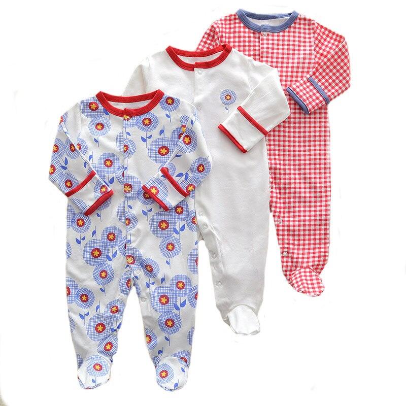 3Pcs/lot Newborn Baby boy Romper Set Winter 0-12M Baby girl Jumpsuit Clothes 100% Cotton Infants Warm Clothing High Quality kids cobroo newborn baby romper winter 2018 100