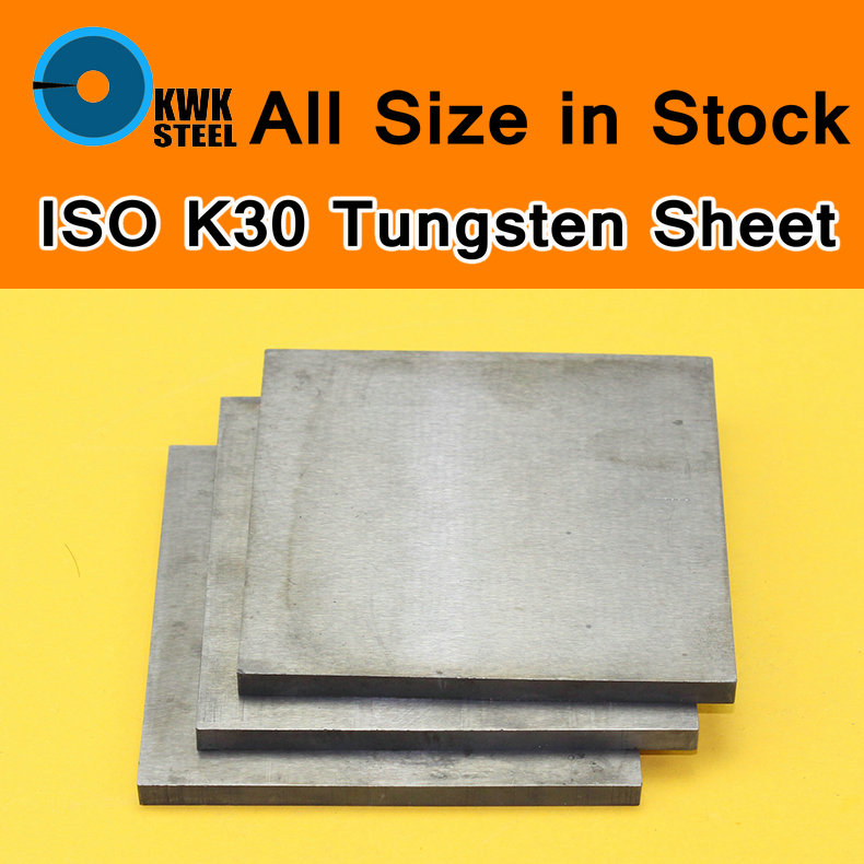 Tungsten Sheet Grade ISO K30 YG8 44A K1 VC1 H10F HX G3 THR W Tungsten Plate ISO Certificated Mould Stamping Material DIY Metal iso certificated swordlike atractylodes rhizome extract 100g lot
