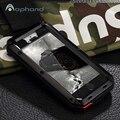 Alta qualidade da água/sujeira/choque prova equipado case para iphone 5/5s se, 1:1 armadura de metal de alumínio hard case capa