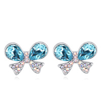 Summer Style Original SWAROVSKI ELEMENTS Crystal Dangle Butterfly Earrings For Women Vintage Bohemian Jewelry Silver Pendientes