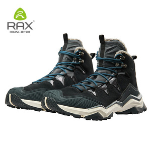 Image 2 - RAX Hiking Boots Men Waterproof Winter Snow Boots Fur lining Lightweight Trekking Shoes Warm Outdoor Sneakers Mountain Boots Men