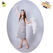 QLQ Girls Silver Costume Performance Carnival Fancy Dress Up Flapper  Imitation Party. US  19.50   Set Free Shipping 541419c2e13e