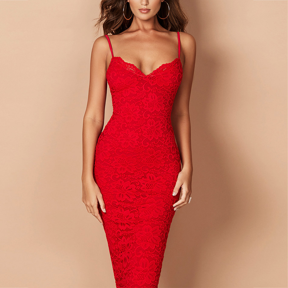 Seamyla Sexy Lace Bandage Dress Summer 2019 Women Elegant Dresses Sleeveless Knee Length Celebrity Party Dress