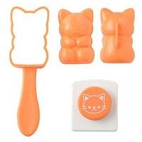 High Quality Cat shape Rice Ball Bento Press Maker Onigiri Mold Omusubinyan