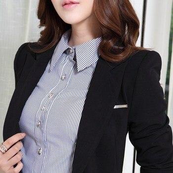 Schwarz Plus Size Blazer | Hohe Qualität Frauen Blazer Und Jacken Herbst Lange ärmeln Büro Arbeit Anzug Outwear Schwarz Grün Blaser Femme Plus Größe 4XL