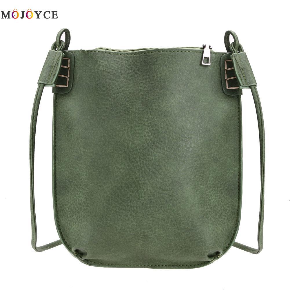 Vintage Women Messenger Bag Ladies Small Bucket Womens Handbags Leather Crossbody Bags for Women 2018 Shoulder Bag