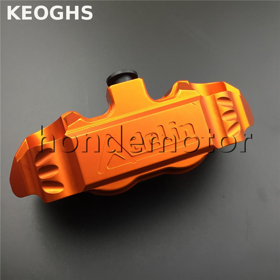 KEOGHS Adelin adl14 Motorcycle Brake Caliper 4 Piston cnc aluminum brake pump for scooter modification FOR Yamaha Dirt Pit Bike keoghs motorbike rear brake caliper bracket adapter for 220 260mm brake disc for yamaha scooter dirt bike modify
