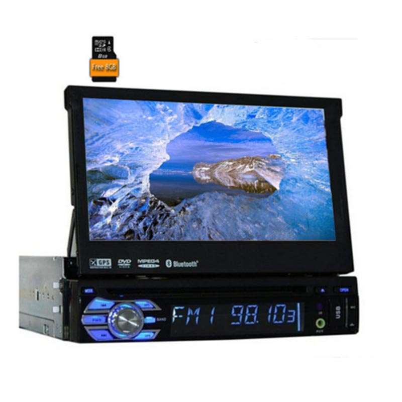 Car Electronic 1 din Car DVD Player GPS Navigation Car <font><b>Radio</b></font> <font><b>coche</b></font> Audio multimedia player In Dash Stereo Video steering wheel image