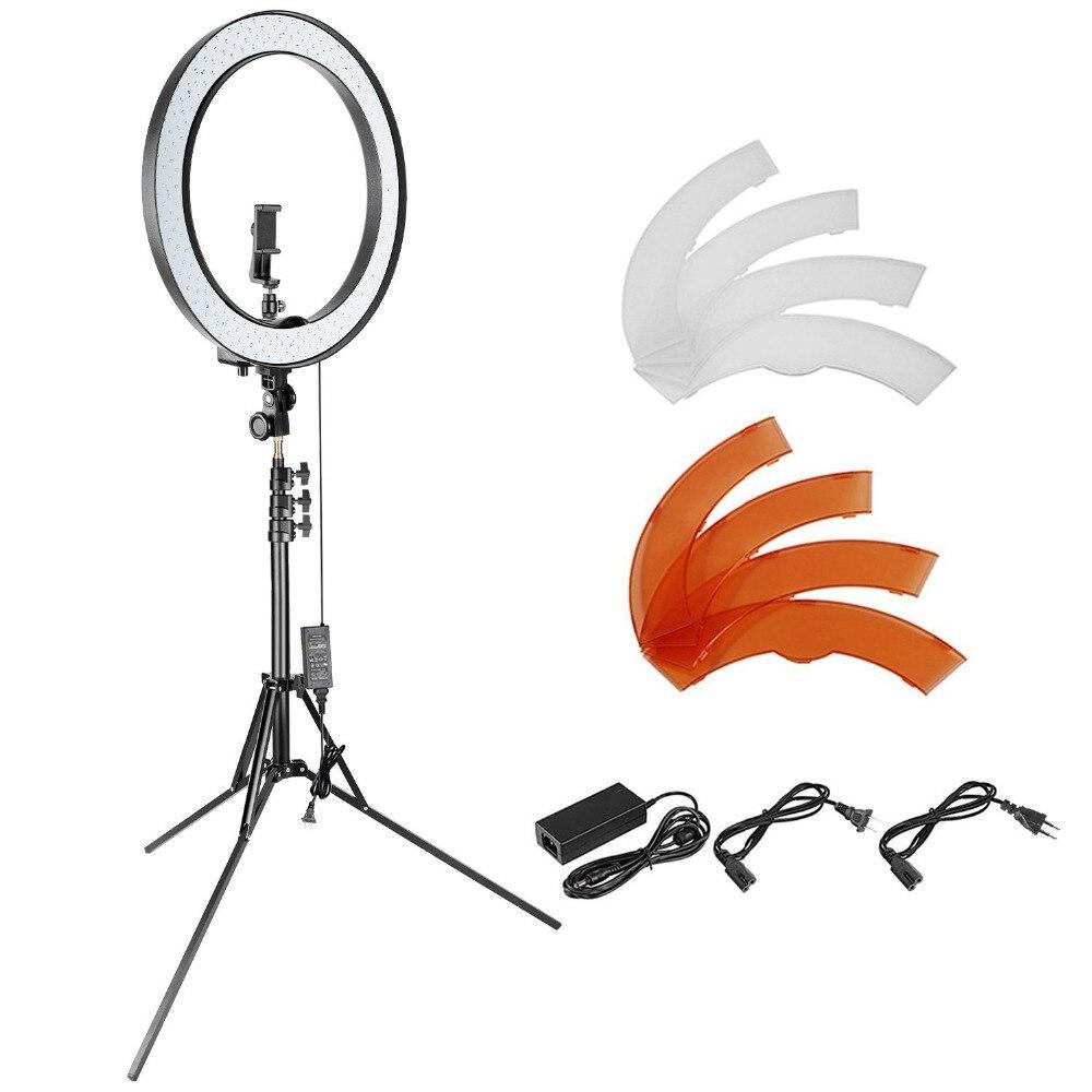 Neewer 18-дюймовый внешний затемнения SMD светодио дный кольцо освещения комплект для камеры смартфона портрет составляют YouTube видео съемки