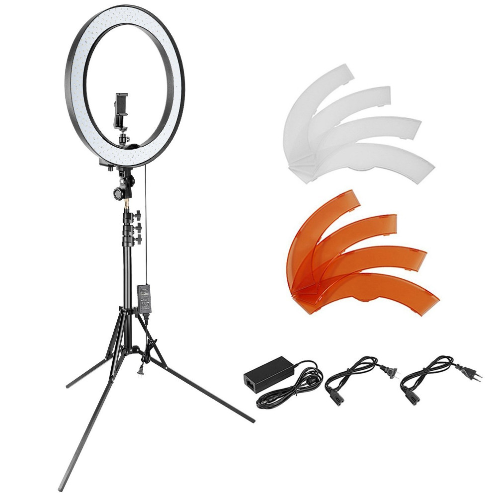 Neewer 18-inch Outer Dimmable SMD LED Ring Light Lighting Kit for Smartphone Camera Portrait Make up YouTube Video Shooting