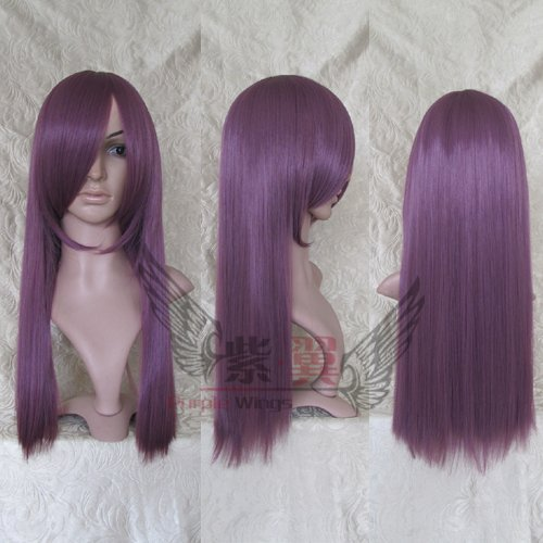 1pcs purple Long Straight Wig 60CM with flat bang/MSN party wig/cosplay hair/hair wig -whosale and retail- Free shipping