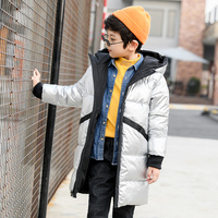 Teenage boys 2018 New Black Red Thick Coat Winter Wear Costume For Size 5 6 7 8 9 10 11 12 13 14 Years Child Casual Down Jacket