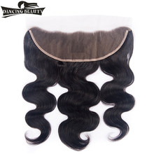 DANCING BEAUTY Pre-Colored Body Wave Lace Closure 13*4 Remy Malaysian Human Hair Lace Frontal Closure With Baby Hair(China)