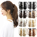 16 colors Wave Magic Hair Ponytail Hair Pieces Drawstring Ribbon Hairpiece Clip In Pony Tail Hair Extensions