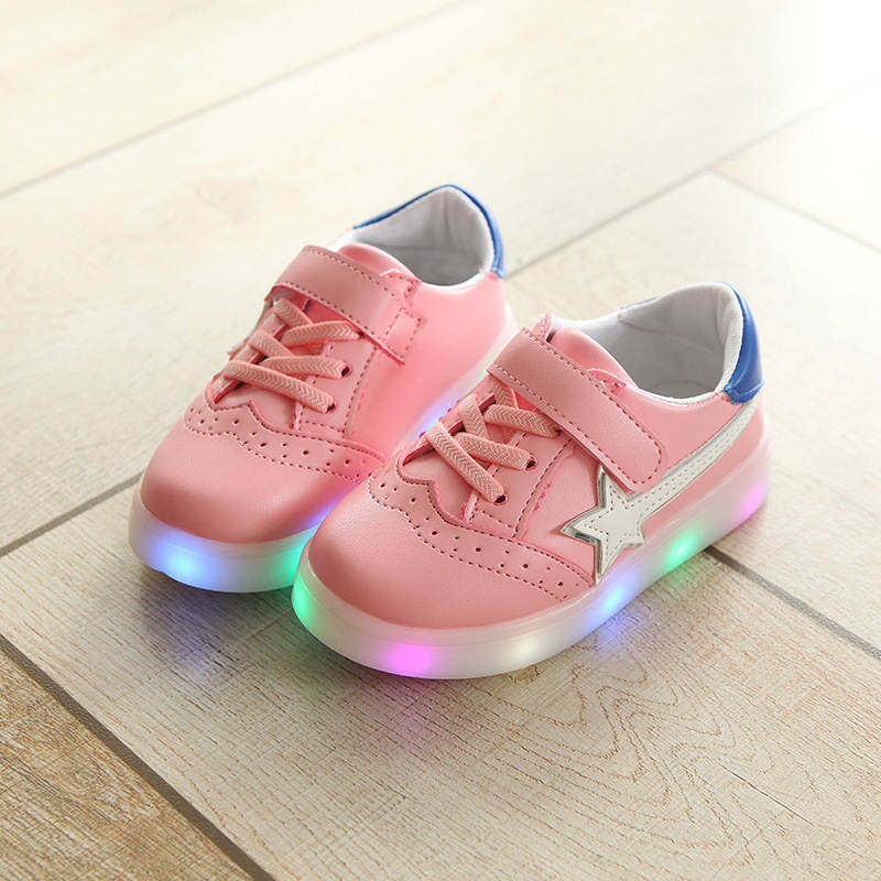 New 2018 European LED lighted children casual shoes high quality glowing sneakers girls boys hot sales sports kids sneakers21-30
