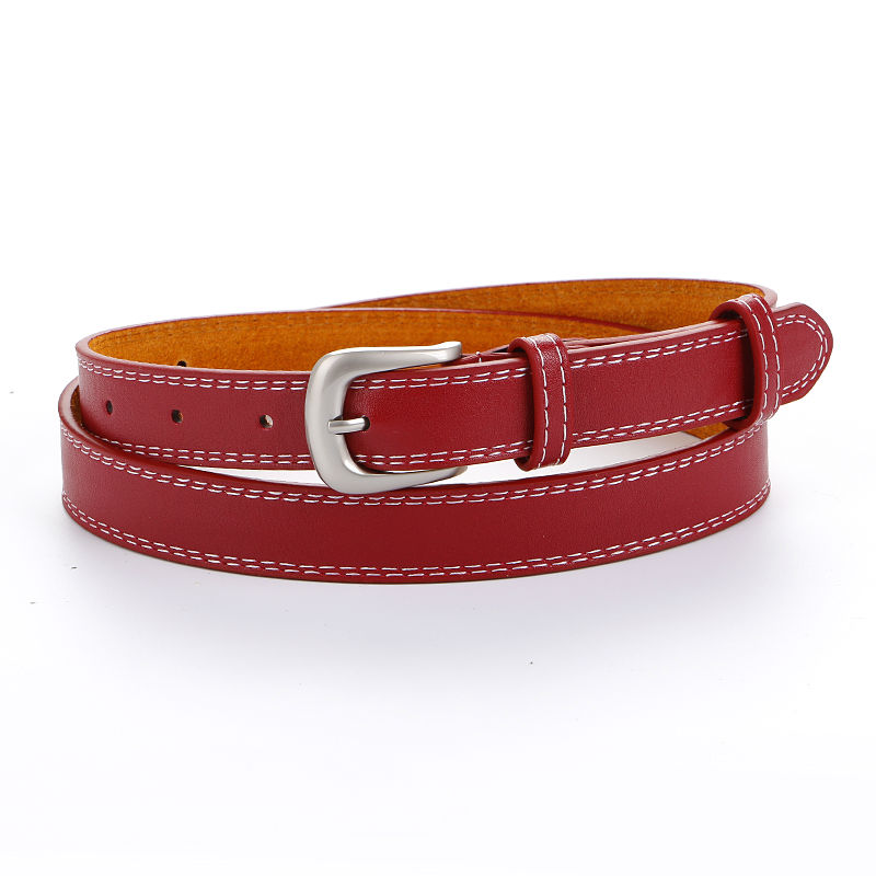 HOT black Leather Design tenké opasky pro ženy Casual Belt silver pin spona Belt Simple Fashion Pánské & Dámské hnědé kůže dámy