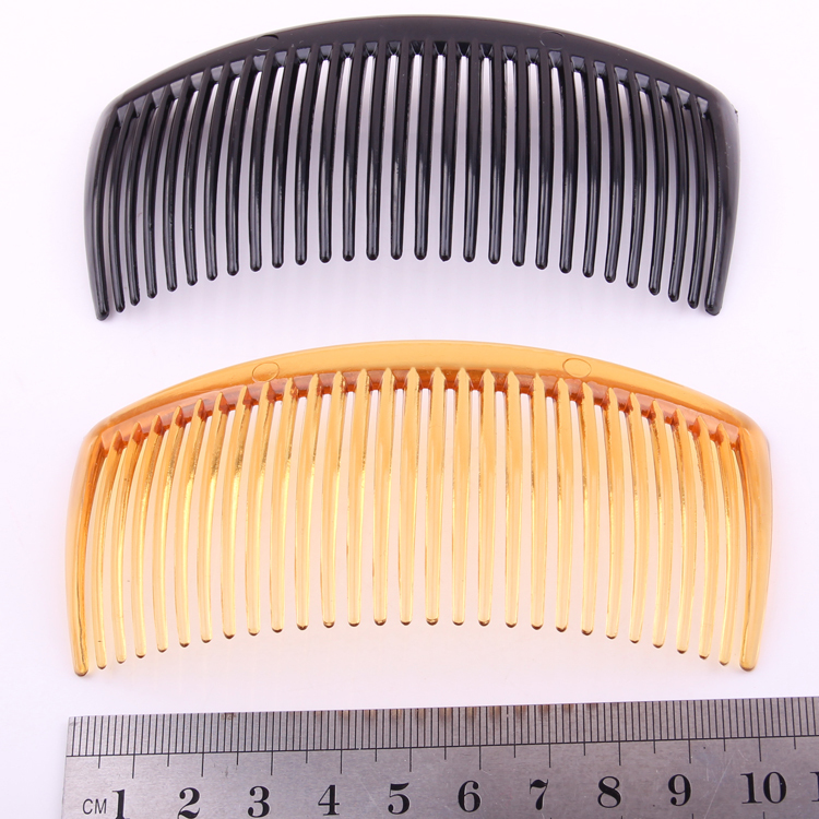 20 PIECES/lot DIY plastic hair accessories PC big comb shining black transparent brown colors women hair combs