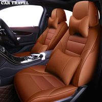 CAR TRAVEL Custom leather car seat cover for Ford explorer focus fusion Taurus S MAX 2013 2012 2011 2009 car styling