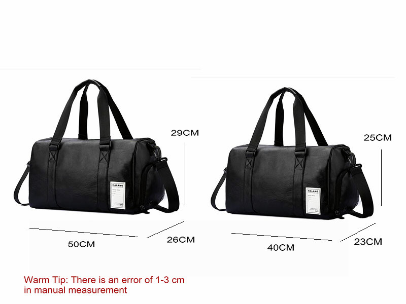 Detail Feedback Questions about Black Gym Bag Men Leather Duffle Bag ... 210db0f6ae2a0