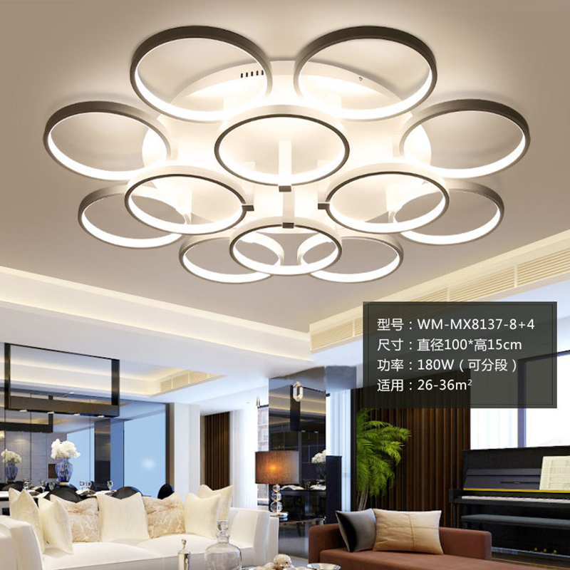 modern led ceiling lights acrylic lamparas de techo fixtures fittings luminaire deckenleuchten foyer bed room livingroom lamp noosion modern led ceiling lamp for bedroom room black and white color with crystal plafon techo iluminacion lustre de plafond