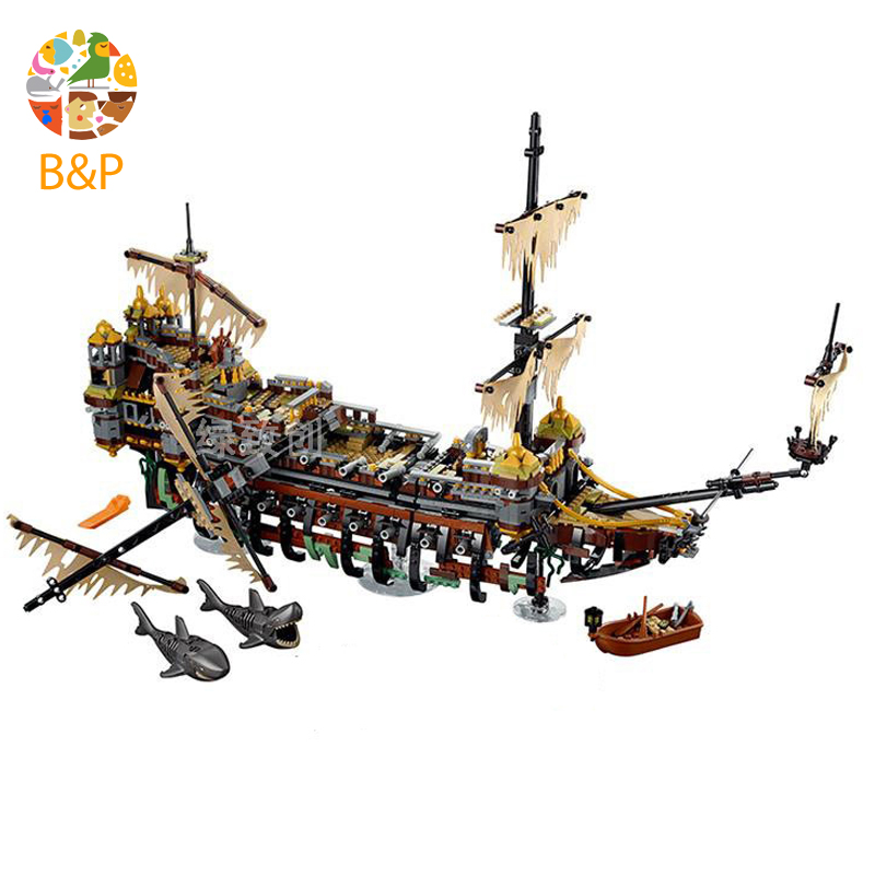 Bela 71042 10680 Pirates of The Caribbean Captain Jack Silent Mary Building Block Toys Compatible with Legoing Pirates Caribbean набор посуды shantou gepai с плитой и аксессуарами со звуком и светом 5810d