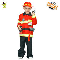 New boy's fireman Costumes Fire Fighter Career Suit Kids Halloween Cosplay Uniform For Kids Boys