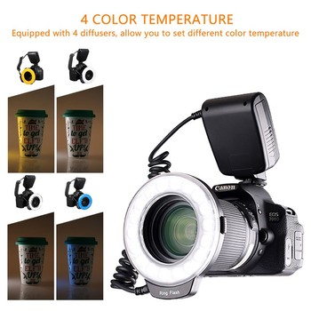 Travor 18pcs Macro LED Ring Flash Light RF-600D For Canon Nikon Panasonic Pentax Olympus DSLR Camera 1