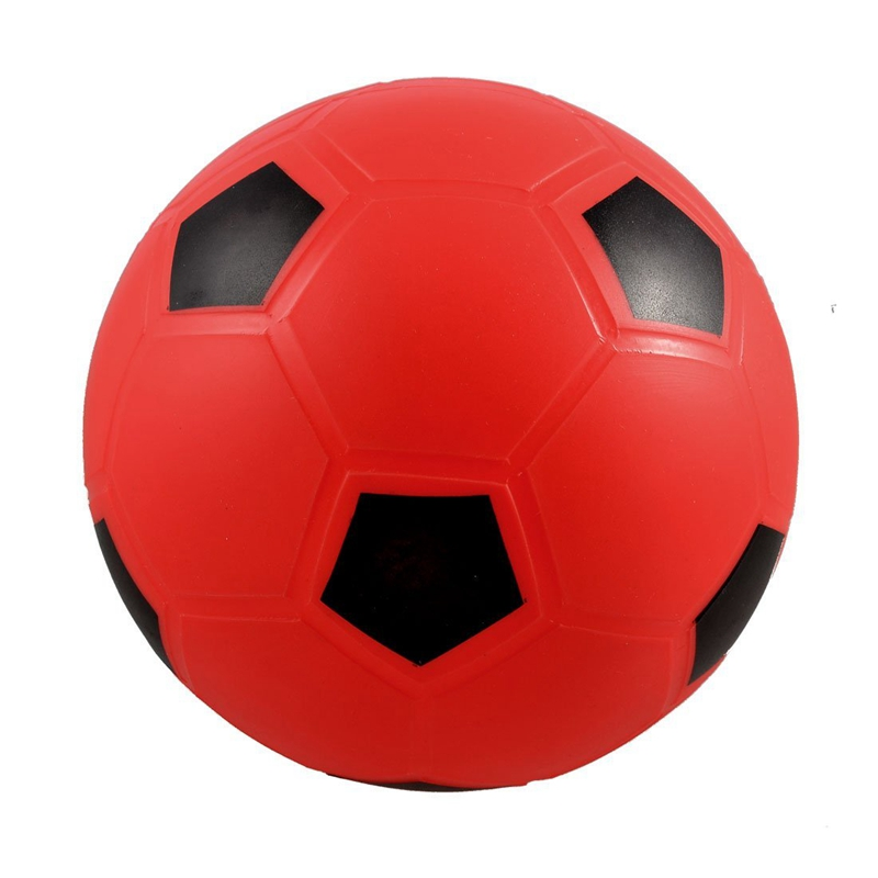 SQPP-SODIAL(R) 5.5 Inflatable Dia Red PVC Football Soccer Toy For Children Kids