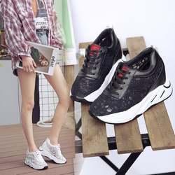 Modis белые женские кроссовки на платформе женская повседневная обувь Вулканизированная обувь массивные кроссовки basket femme 2019 zapatillas de mujer