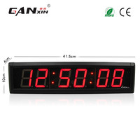 [GANXIN]2.3 inch LED countdown Timer 7 segment display wall clock 12/24H