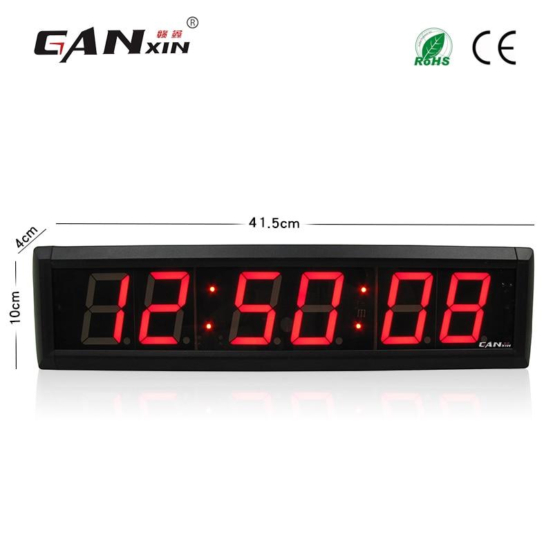 [GANXIN] 2.3 pollice LED conto alla rovescia Timer 7 segmenti del display orologio da parete 12/24 H