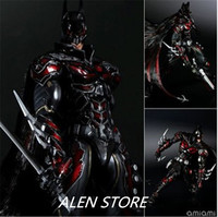 Superhero Movie Batman red Limited Ver Action Figure Playarts Kai figurine kids hot Toys Model Play arts collectibles