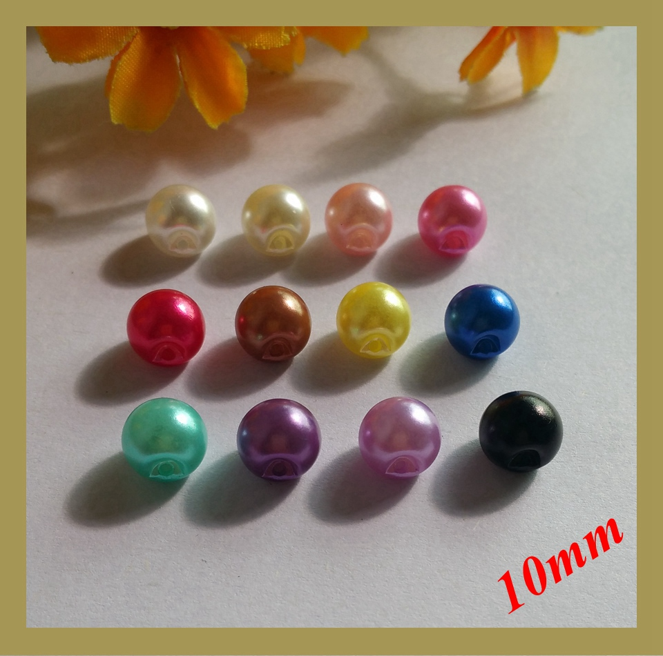 10.5 mm-Violet Finition 50 Demi Rondes Dos Plat Tournesol Pearls