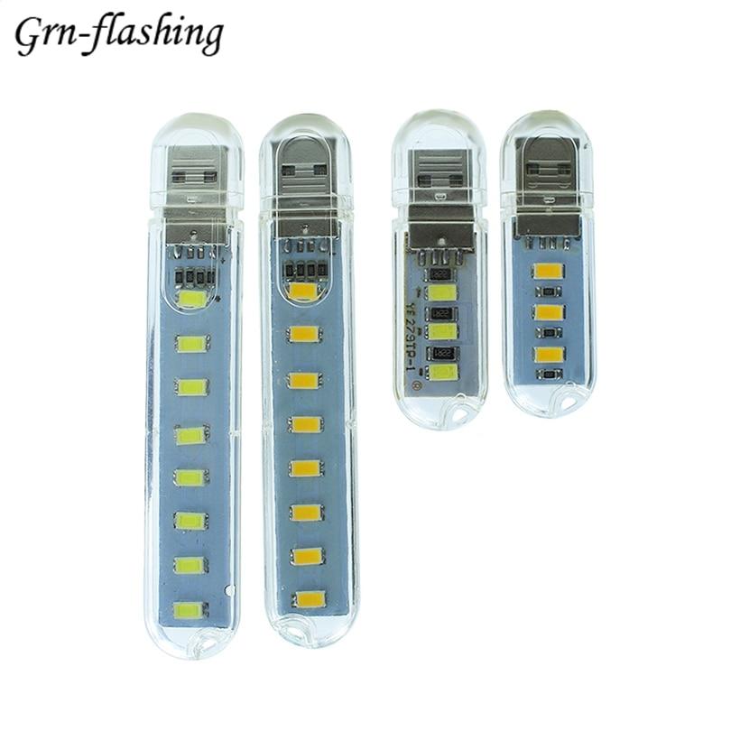 Mini USB LED Light Table Lamp Lighting 8LEDs 3LEDs SMD 5730 Night light PC Laptop Power  ...