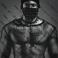 2016 New Sexy Fashion Fishnet Mesh Tank Tops For Men Clothes Fetish Male Guy Black Long Sleeve Net Top Suits For Mens Clothing