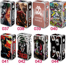 1PCS Electronic Cigarette Stickers For VOOPOO DRAG TC 157W Box Mod Skin Cover Sticker 8Color Choose(China)