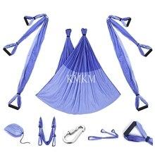 Мощный подвесной гамак для йоги, Воздушная Трапеция, инверсионные Антигравитационные ремни, высокопрочная ткань для декомпрессии