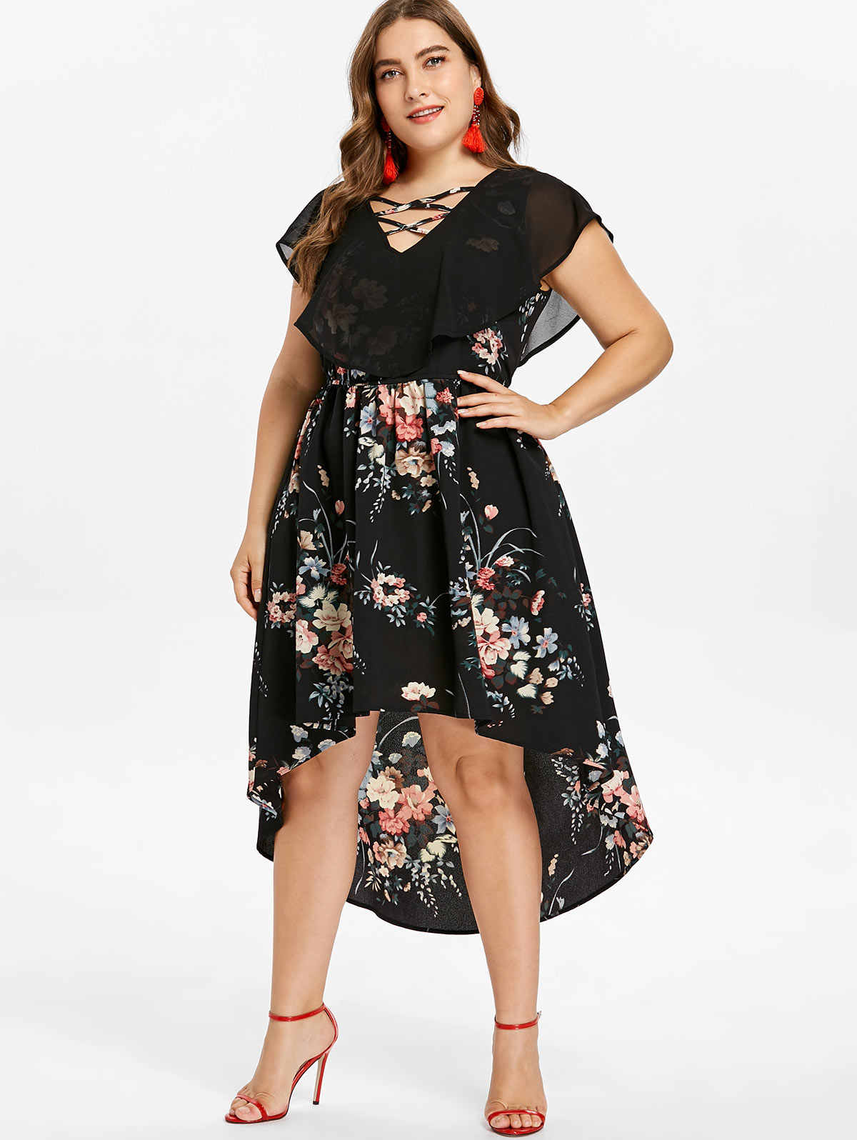 10d874b46f3 Detail Feedback Questions about Wipalo Plus Size 5XL Tiny Floral ...