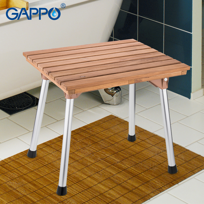 Bathroom Safety & Accessories Gappo Wall Mounted Shower Seats Folding Waiting Chairs Bench Relax Chair Shower Seats Bathroom Stool Cadeira