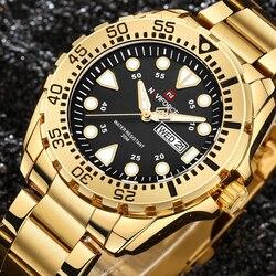 relogio masculino NAVIFORCE Watches Men Luxury Brand Sport Quartz Watch Men's Waterproof Military Clock Man Full Steel Watch