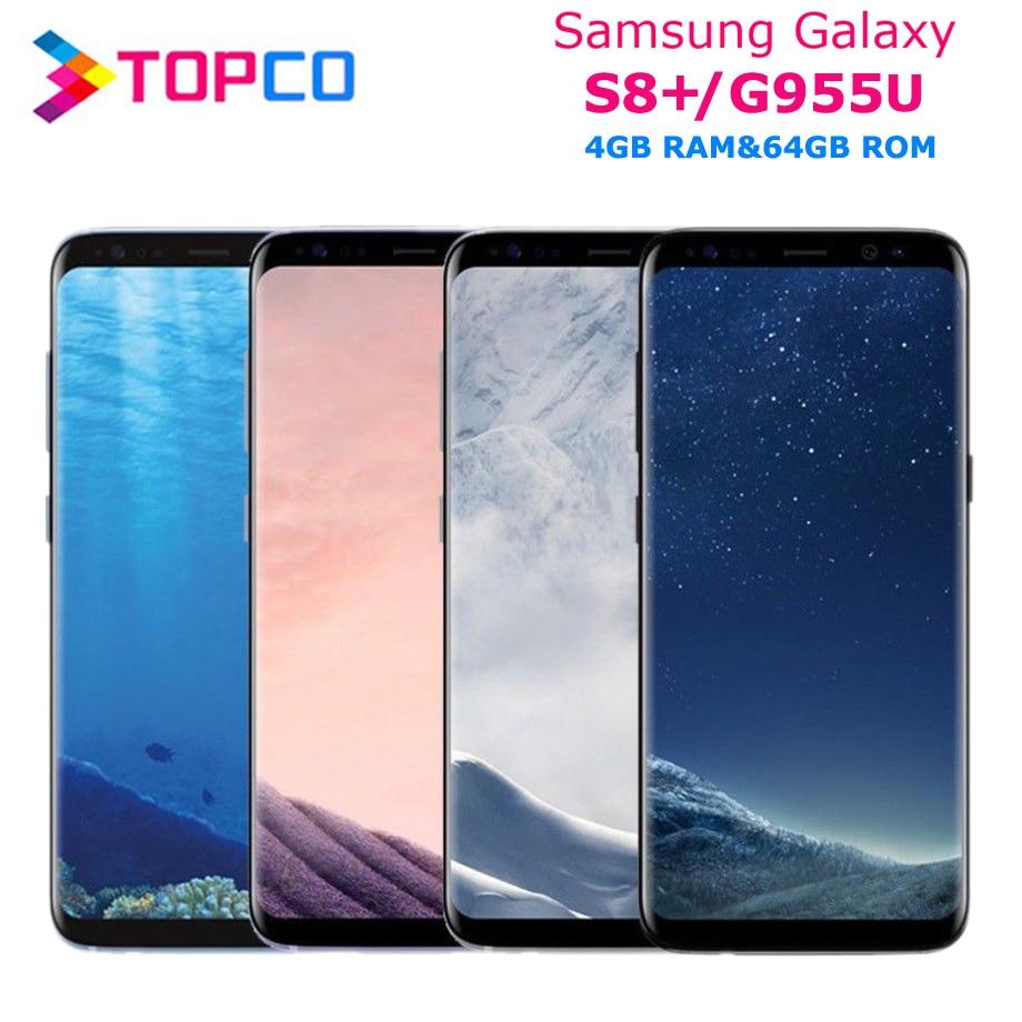 "Samsung Galaxy S8+ S8 Plus Original Unlocked G955U 4G LTE NFC Android Phone Snapdragon Octa Core 6.2"" 12MP RAM 4GB ROM 64GB"