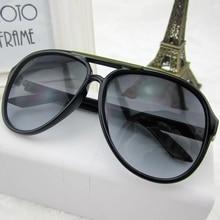Vintage Sunglasses Men Women Oversized Sun Glasses for Man Retro Female Shades Gradient Black Brown Classic Brand Design Uv400